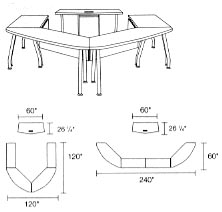 modular tables layout 1