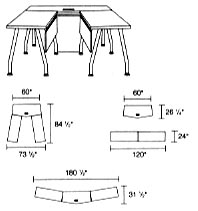 modular tables layout 2