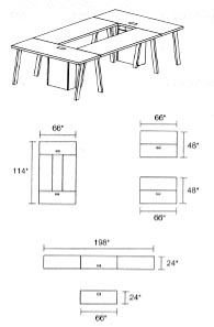 modular tables layout 4