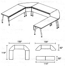 modular tables layout 5