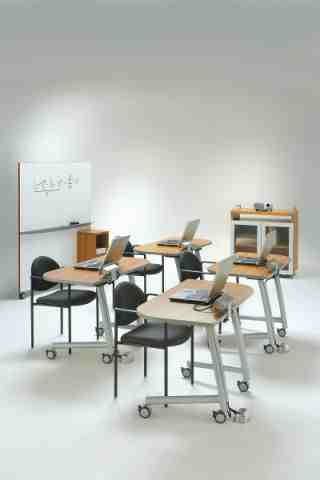 training tables with complementary furniture