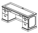 computer credenza with 1 PBF and CPU ped