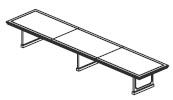 18' & 20' 3 piece rectangular conference table