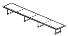 24' & 26' 4 piece rectangular conference table