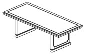 6' & 8' one piece rectangular conference table