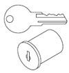 key and lock core