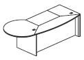 P shaped desk