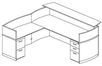 reception desk with return