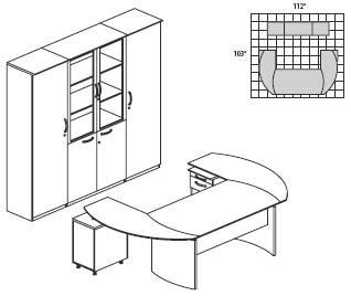 Mayline Napoli Series Veneer Office Furniture Layout NT14
