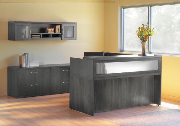 Aberdeen reception desk with credenza