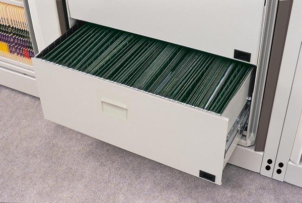 Arc rotary file drawer
