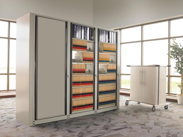 Arc rotary filing system
