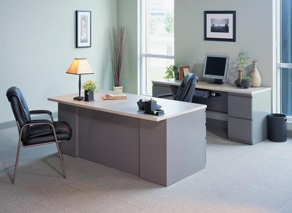 CSII desk and credenza