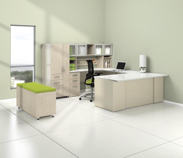 "CSII executive ""U"" desk office suite"