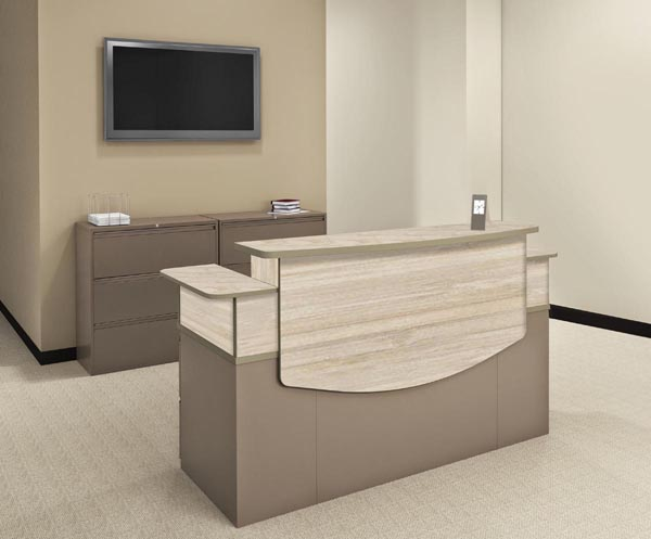 CSII reception desk with lateral files