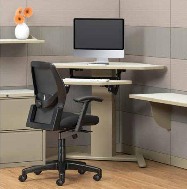 E Series Height Adjustable Corner Table