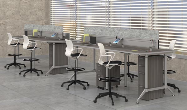 Even standing height table