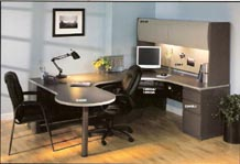 mayline's modular laminate computer workstation furniture