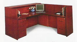 Corsica Veneer Reception Desk