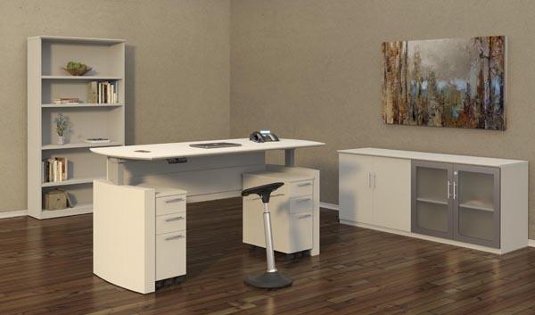 Medina height adjustable desk office suite