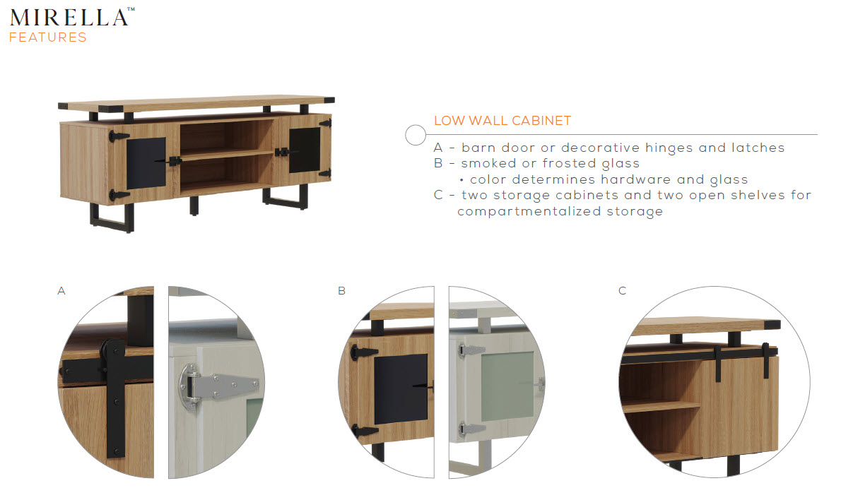 mirella low wall cabinet features
