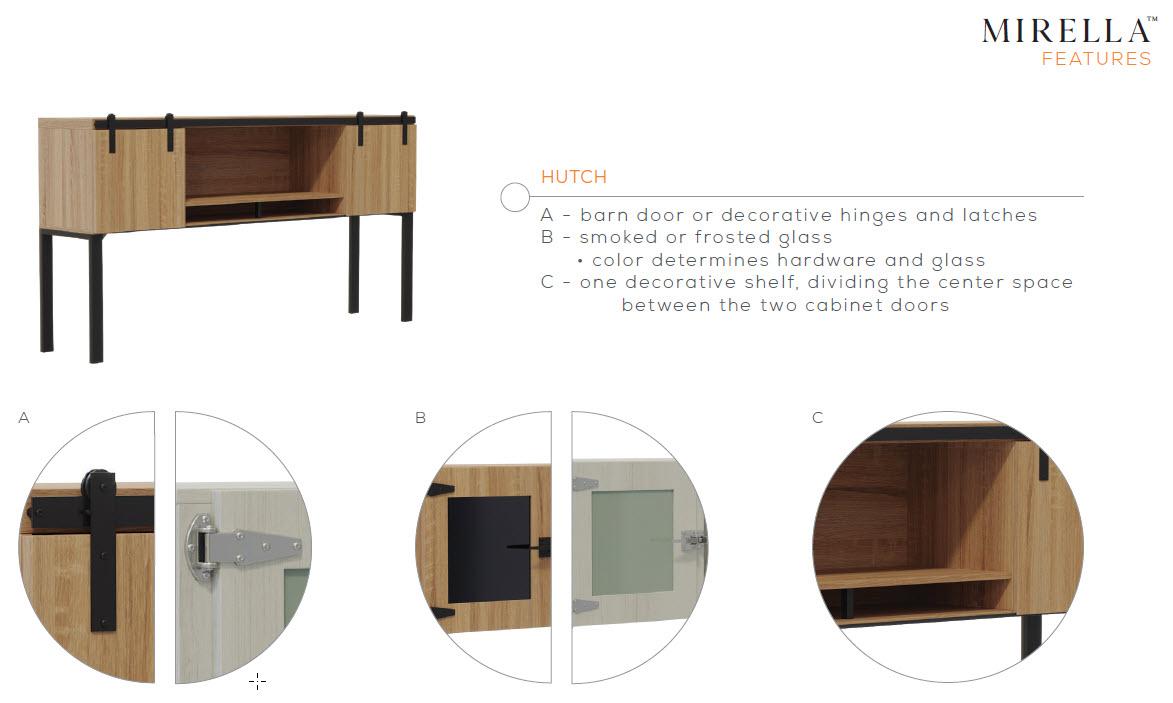 mirella hutch features