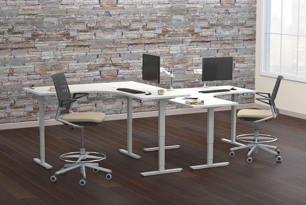 ML three leg corner height adjsutable table
