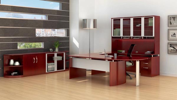 "Napoli executive ""U"" desk suite"