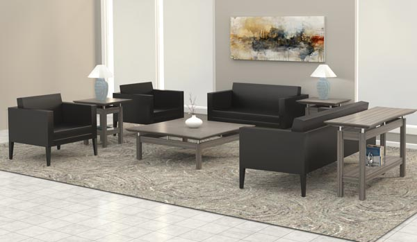 Prestige lounge seating with Sterling tables