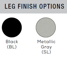 Rumba leg finish options