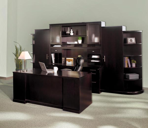 Sorrento executive desk with wall unit
