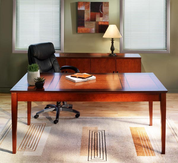 Sorrento table desk with credenza