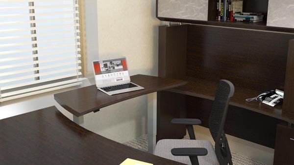 """Sterling height adjustable bridge for """"U"""" desk"""