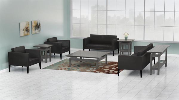 Sterling lounge tables with Santa Cruz seating