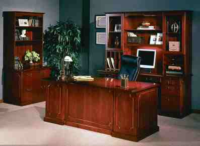 toscana executive desk suite in cherry