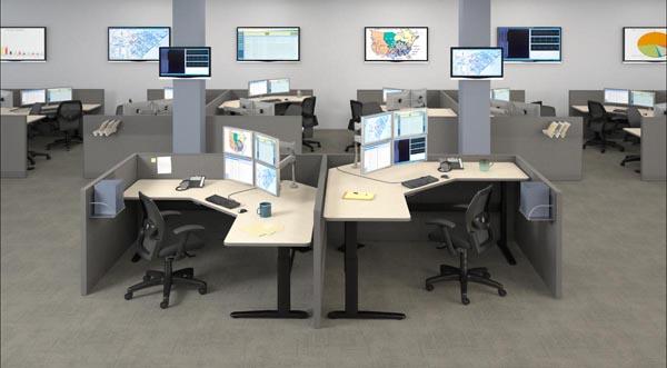 XR series height adjsutable desk cubicle