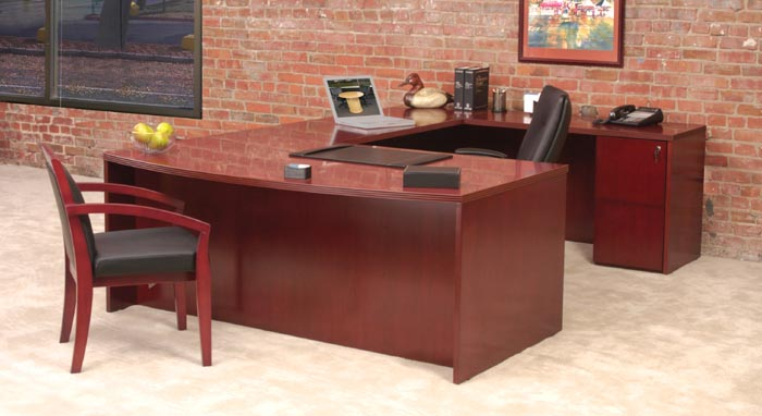 bow front executive workstation