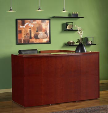 cherry reception desk front
