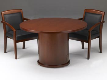 round conference table with chairs