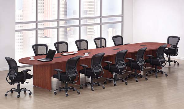 16' racetrack conference table, add on sections allow you to create the size conference table to meet your requirements.