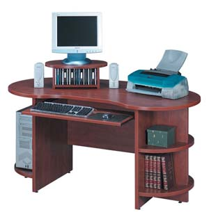 Kidney shaped computer desk. Great for apartment and home offices.
