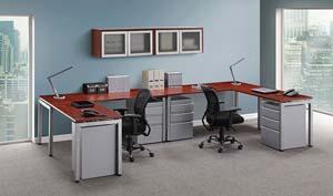 PL Series Conference Tables Small Computer Desks Metal Leg Desks - L shaped conference table