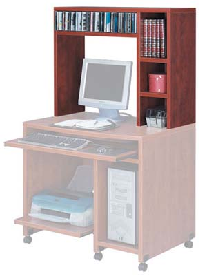 Hutch for computer cart