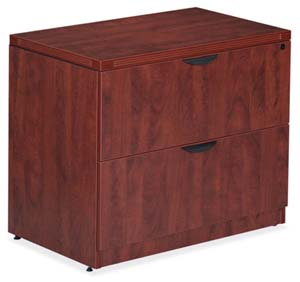 PLE 2 drawer lateral file with matching reed edge.