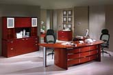 Techno modern veneer executive office furniture collection