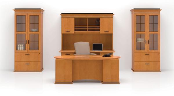 Altamont executive desk credenza hutch lateral storage cabinets