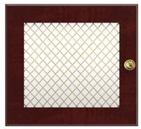 glass insert-wire mesh door