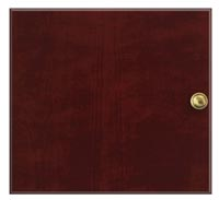 Straight grain wood door