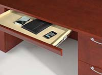 Center drawers are available in three widths.