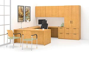 Ignite U-unit shown in Natural Maple with Reveal edge